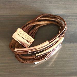 Guess twisted leather bracelet